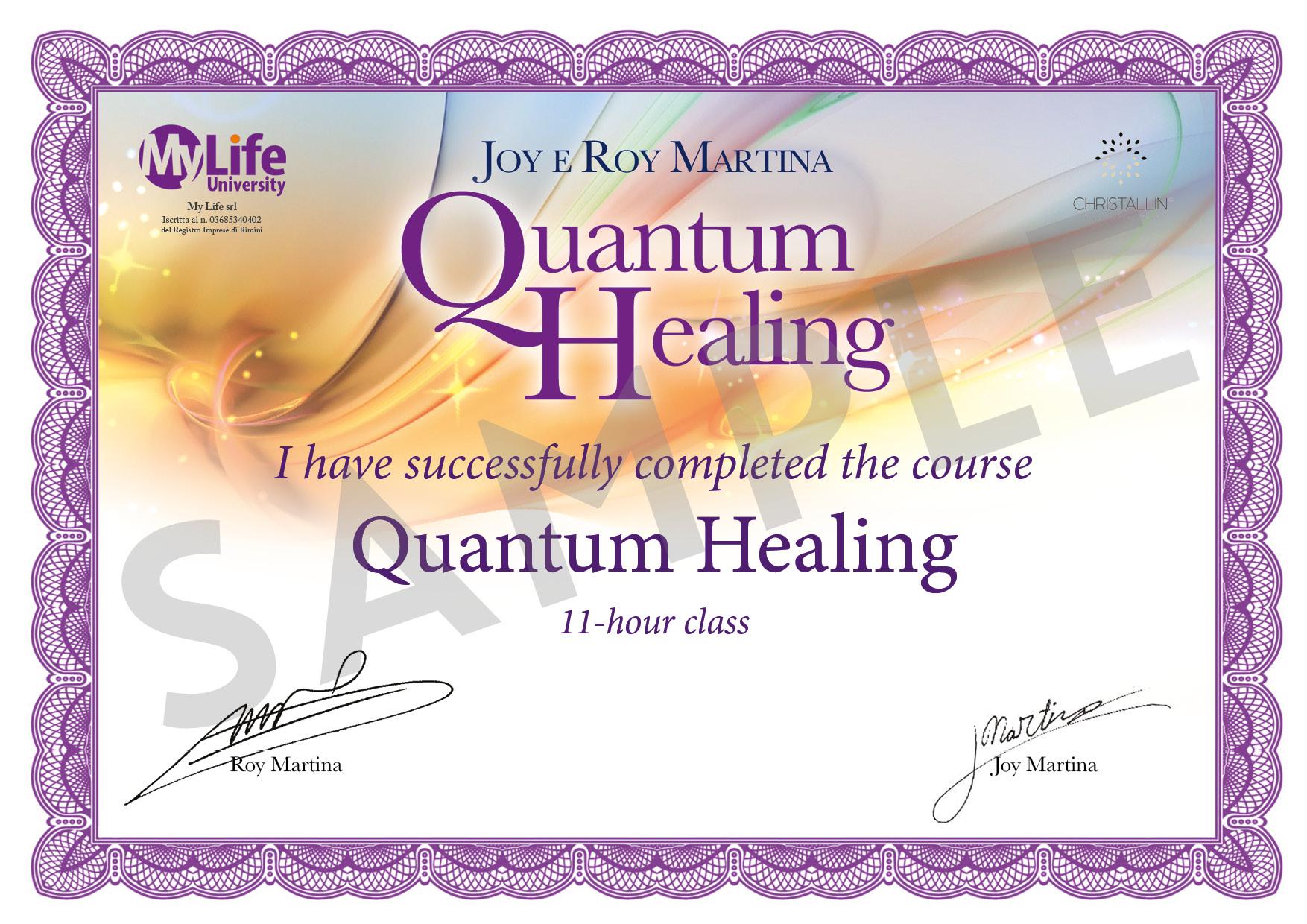 Certificato in PDF - Quantum Healing