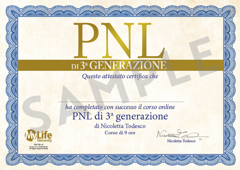 certificato sample pnl di 3a generazione