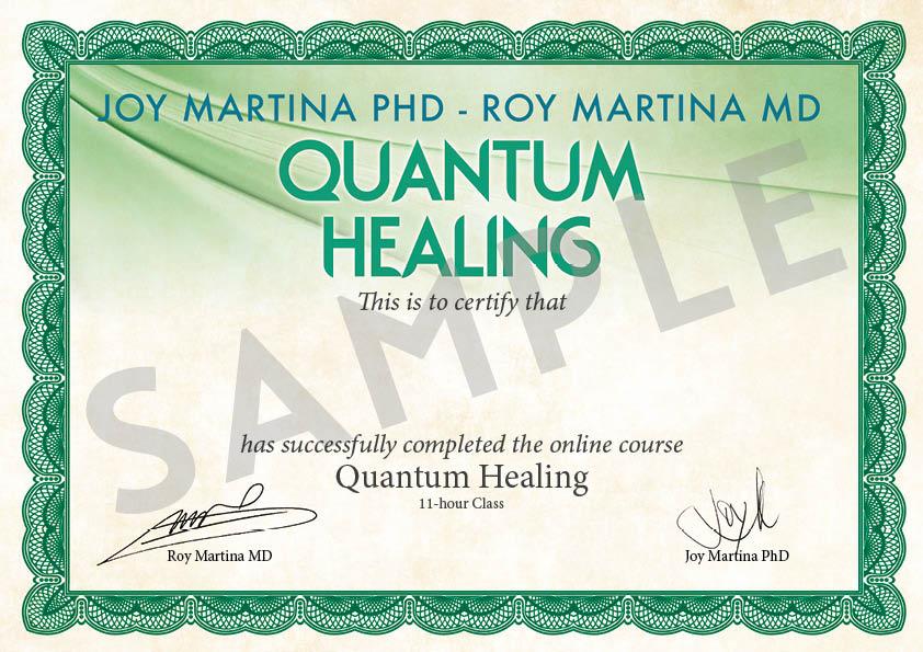 Certificato PDF - Quantum Healing