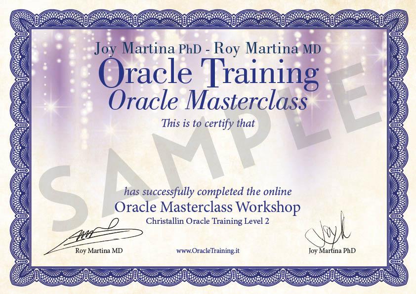 Certificato PDF - Masterclass