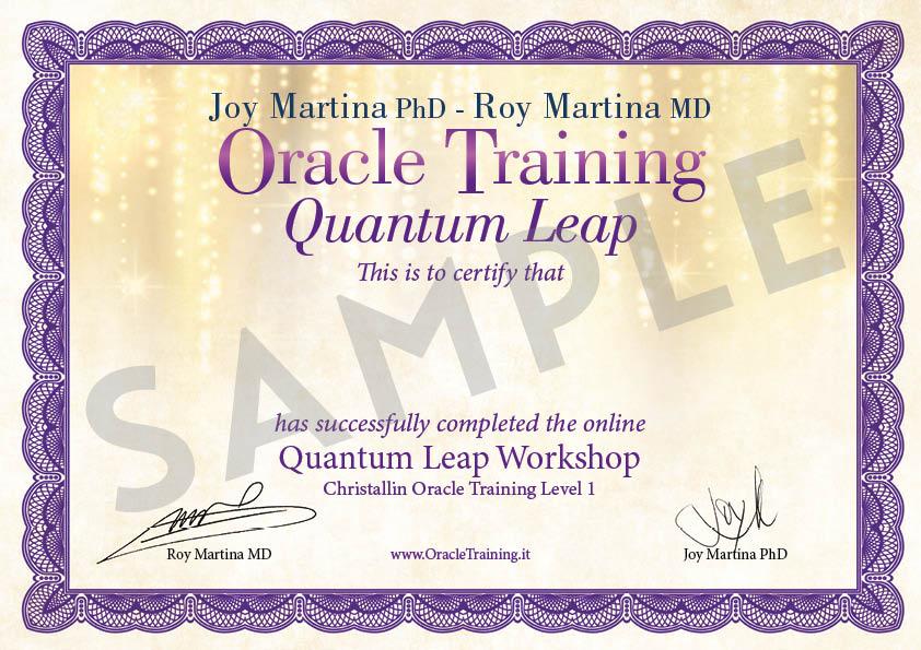 Certificato PDF - Salto Quantico