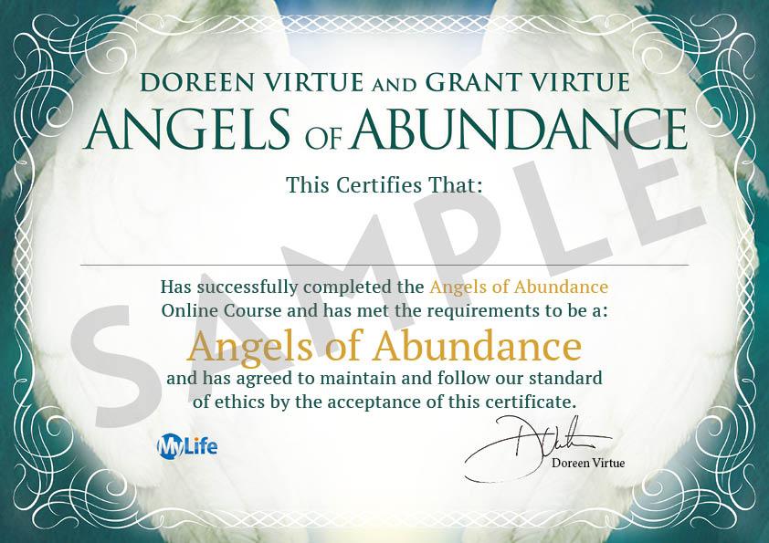Certificato PDF - Angeli dell'Abbondanza