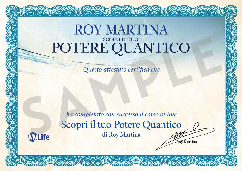 Certificato corso PDF