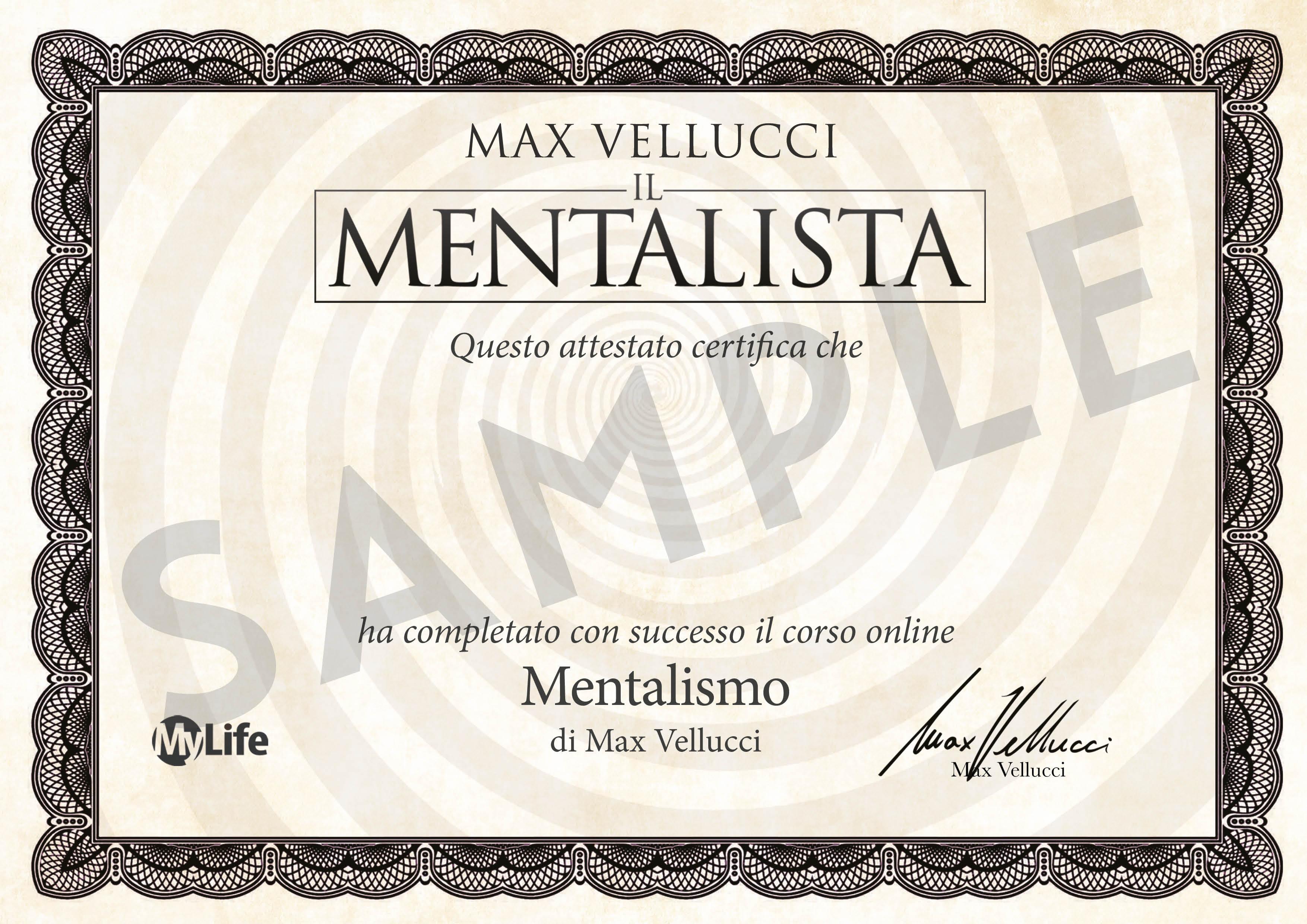 Certificato PDF - Mentalista