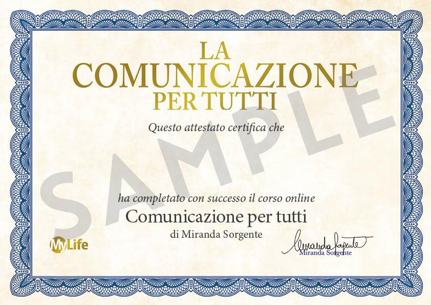 Certificato PDF - La Comunicazione per Tutti