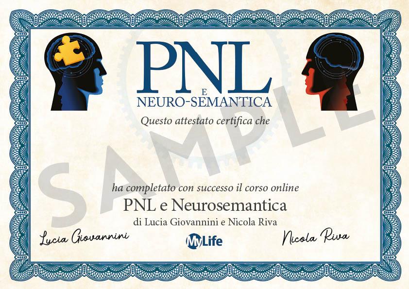 Certificato PDF - PNL e neuro-semantica