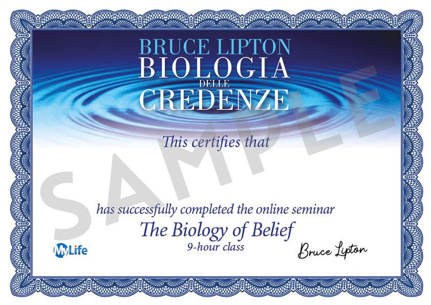 Certificato PDF - Biologia delle Credenze